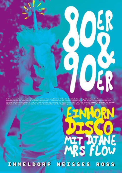 Einhorn-Disco mit DJane Mrs Flow (80s/90s)